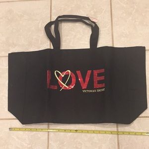 Victoria's Secret tote black 25x14x6,5""